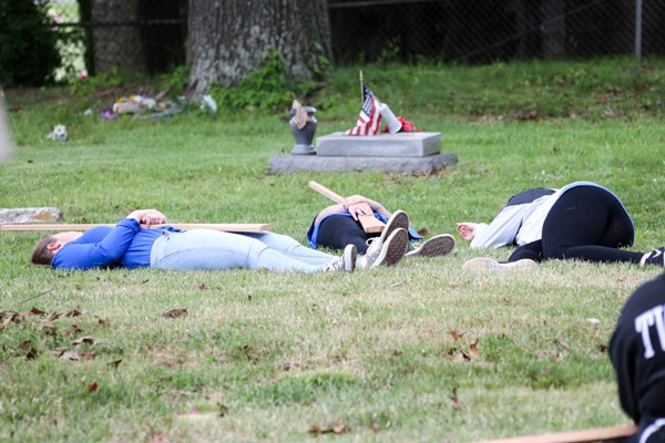 Rachel Phillips' 5th period class reenacted Picket's Charge of the Battle of Gettysburg.