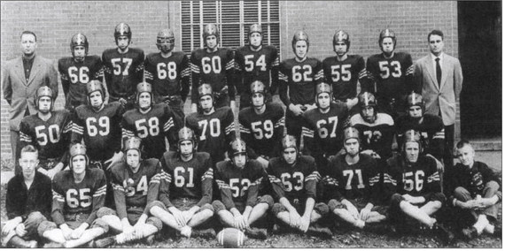 The 1951 Russell football team is pictured.