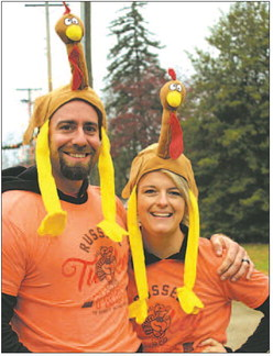 Mark and Amber Sturgill were well-dressed for the run.